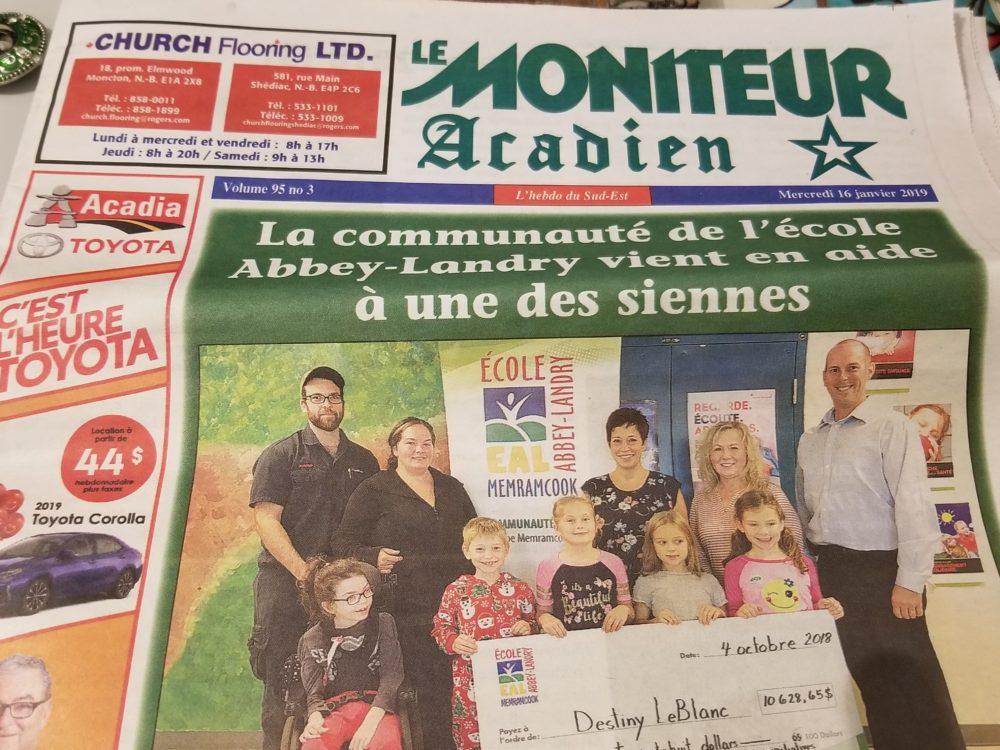 Petit journal va loin: l'histoire du Moniteur Acadien