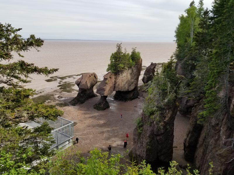 Marées de la Baie de Fundy: gare à la vague!