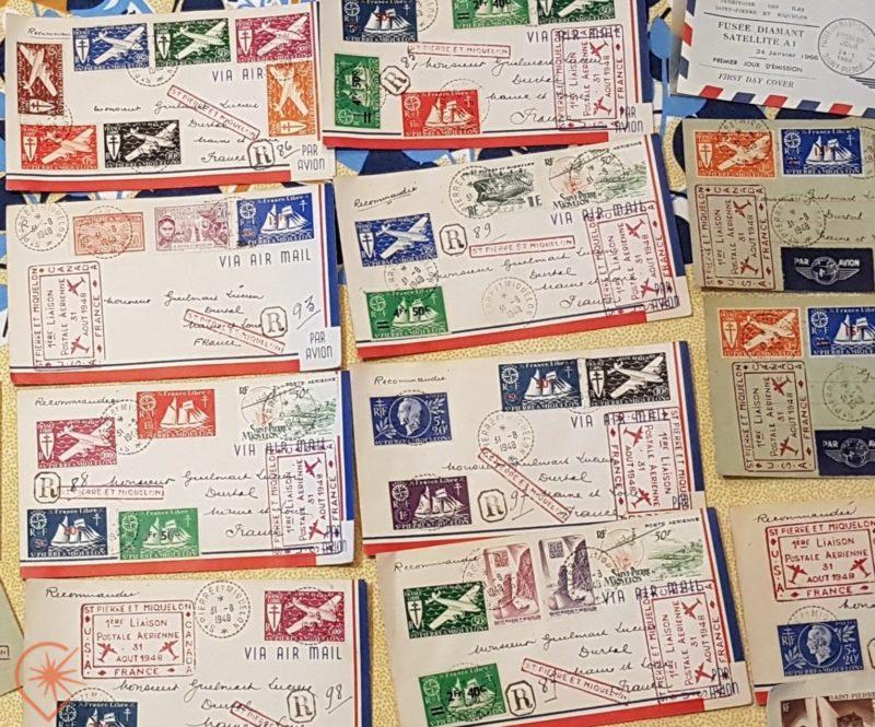 Les timbres de Saint-Pierre et Miquelon