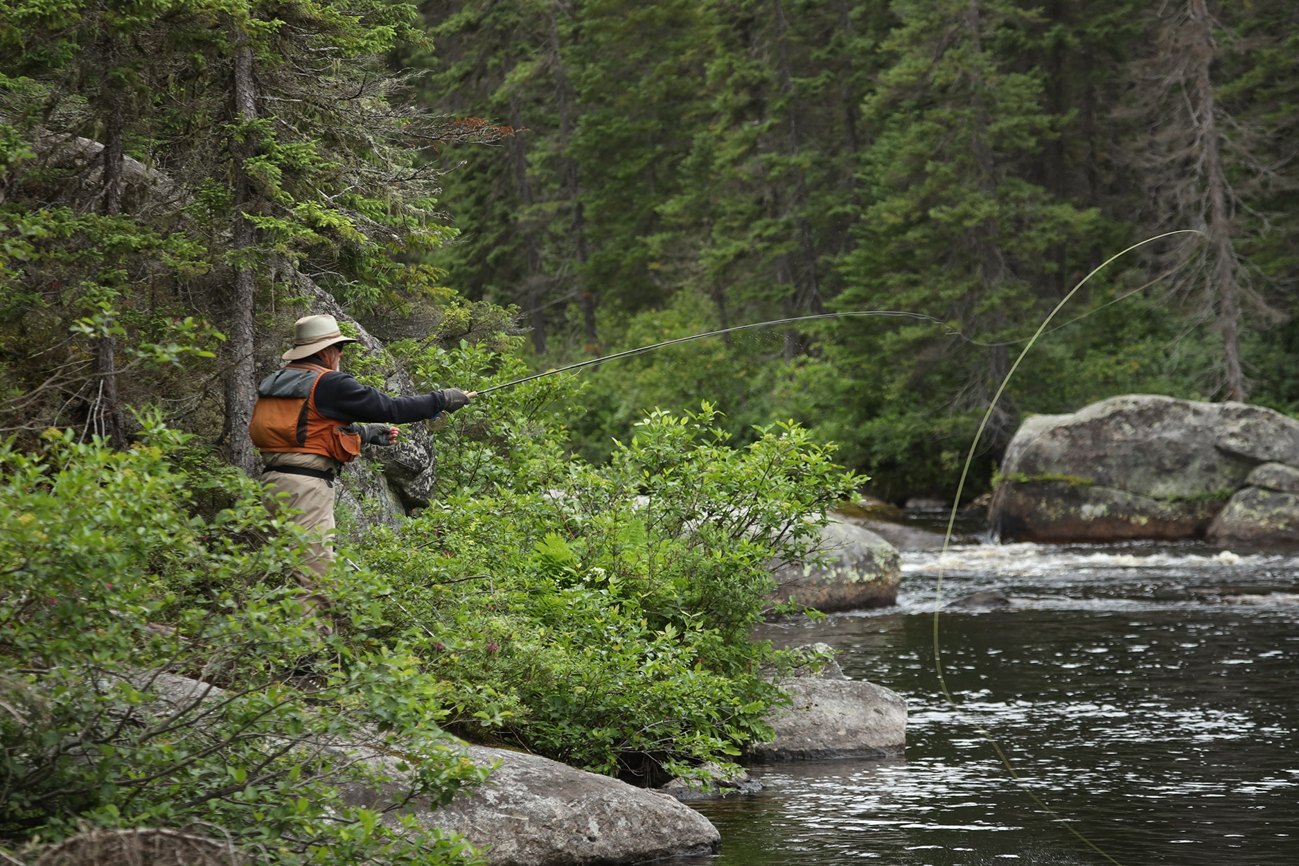La pêche au saumon sur la rivière Miramichi
